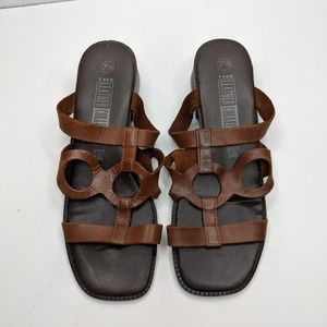 The Leather Collection Sandals Women's 7-1/2 Brown
